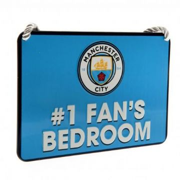 Manchester City Bedroom Sign Number 1 Fan